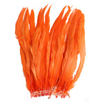 "25pcs 14-16"" Orange Bleach-Dyed Rooster Coque Tail Feathers"