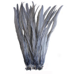 "25pcs 14-16"" Silver Grey Bleach-Dyed Rooster Coque Tail Feathers"