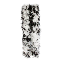150 Grams White with Black tips Chandelle Feather boa
