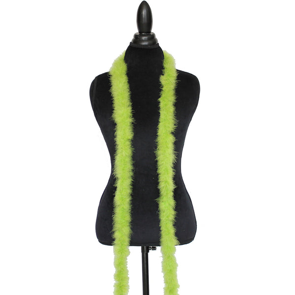 15 Grams Light Lime Green Marabou Feather Boa