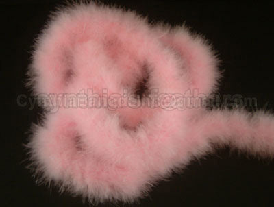 75 Grams Baby Pink Marabou Feather Boa