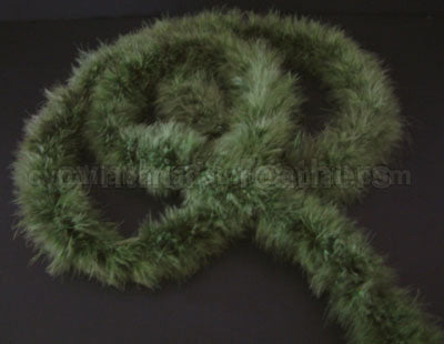 15 Grams Olive Green Marabou Feather Boa