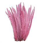 "25pcs 16-18"" Baby Pink Bleach-Dyed Rooster Coque Tail Feathers"