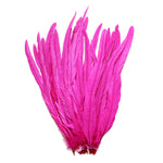 "25pcs 16-18"" Fuschia Bleach-Dyed Rooster Coque Tail Feathers"