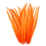 "25pcs 16-18"" Orange Bleach-Dyed Rooster Coque Tail Feathers"