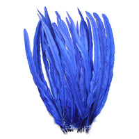 "25pcs 16-18"" Royal Blue Bleach-Dyed Rooster Coque Tail Feathers"