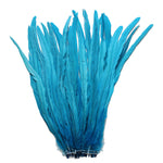 "25pcs 16-18"" Turquoise Bleach-Dyed Rooster Coque Tail Feathers"