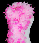 180 Grams Baby Pink With Hot Pink Tips Chandelle Feather Boa