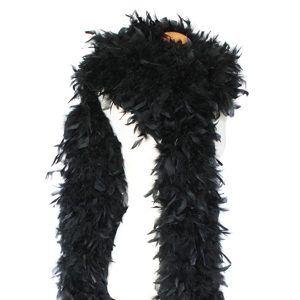 180 Grams Black Chandelle Feather Boa