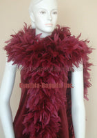 180 Grams Burgundy Chandelle Feather Boa