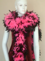 180 Grams Hot Pink With Black Tips Chandelle Feather Boa