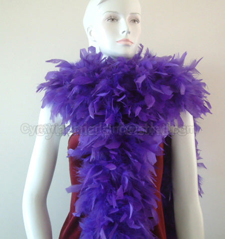 180 Grams Regal Purple Chandelle Feather Boa