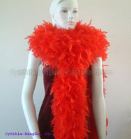 180 Grams Red Chandelle Feather Boa