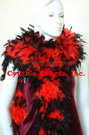 180 Grams Red With Black Tips Chandelle Feather Boa