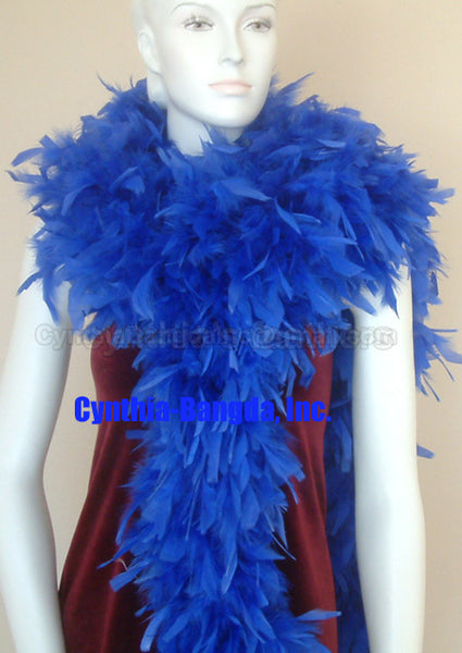 180 Grams Royal Blue Chandelle Feather Boa