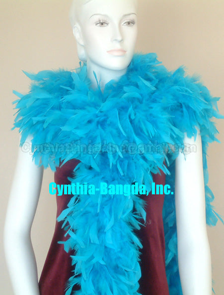 180 Grams Turquoise Chandelle Feather Boa
