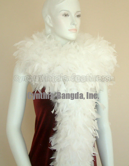 180 Grams White Chandelle Feather Boa