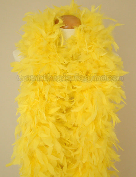 180 Grams Yellow Chandelle Feather Boa