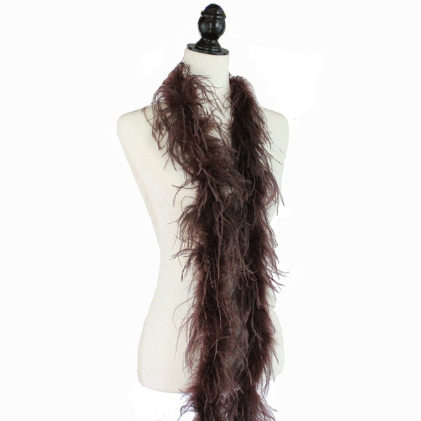 "1 ply 72"" Chocolate Brown Ostrich Feather Boa"