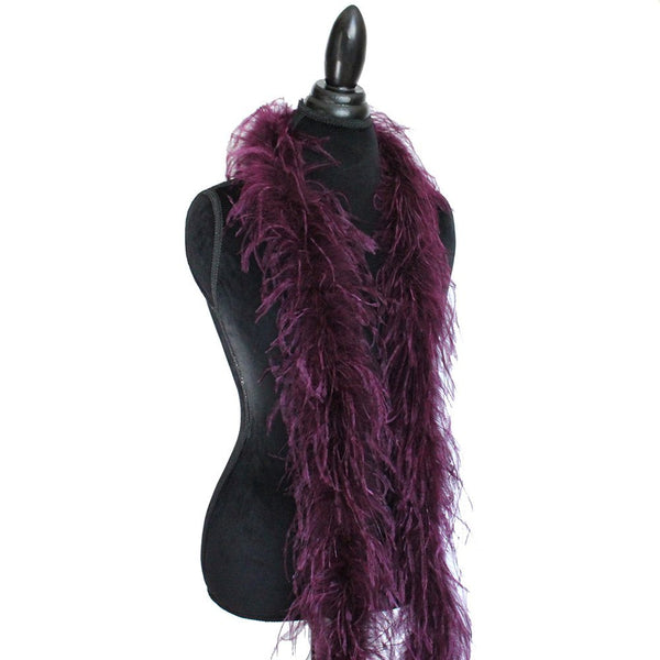 "1 ply 72"" Wine Ostrich Feather Boa"