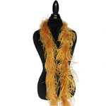 "1 ply 72"" Ginger Ostrich Feather Boa"