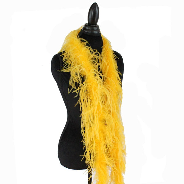 "1 ply 72"" Golden Yellow Ostrich Feather Boa"