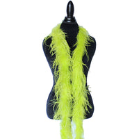 "1 ply 72"" Chartreuse Green Ostrich Feather Boa"