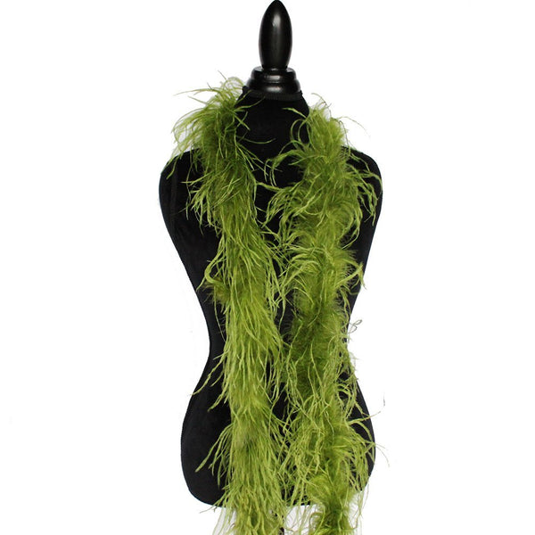 "1 ply 72"" Olive Green Ostrich Feather Boa"