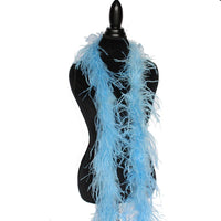 "1 ply 72"" Periwinkel Ostrich Feather Boa"