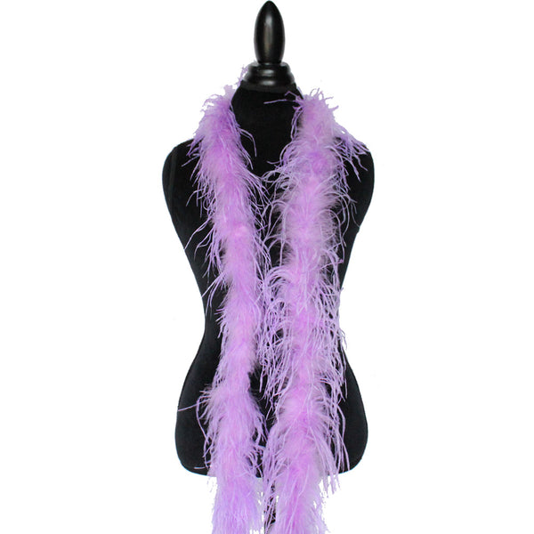 "1 ply 72"" Pinkish Lavender Ostrich Feather Boa"