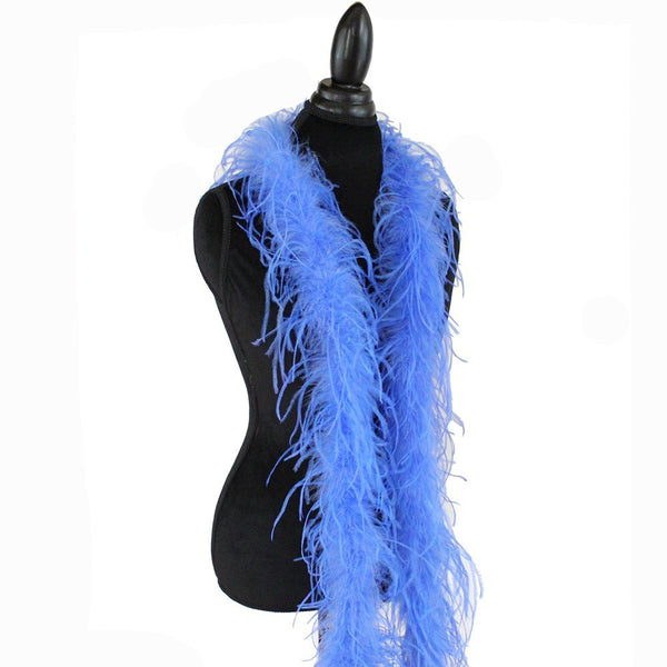 "1 ply 72"" Azure Blue Ostrich Feather Boa"