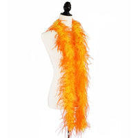 "1 ply 72"" 	Yellow/Orange mix Ostrich Feather Boa"
