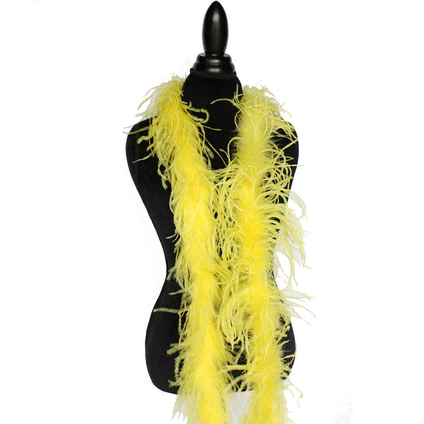 "1 ply 72"" Yellow Ostrich Feather Boa"