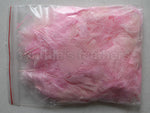 "0.35 oz Baby Pink 3-4"" Turkey Plumage Loose Feathers 80-120 Pieces"