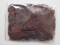 "0.35 oz Chocolate Brown  3-4"" Turkey Plumage Loose Feathers 80-120 Pieces"