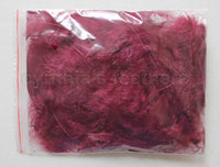 "0.35 oz Burgundy 3-4"" Turkey Plumage Loose Feathers 80-120 Pieces"