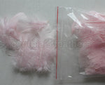 "0.35 oz Blush Pink  3-4"" Turkey Plumage Loose Feathers 80-120 Pieces"