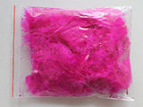 "0.35 oz Fuschia  3-4"" Turkey Plumage Loose Feathers 80-120 Pieces"