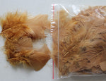 "0.35 oz Ginger  3-4"" Turkey Plumage Loose Feathers 80-120 Pieces"