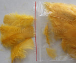 "0.35 oz Gold Yellow  3-4"" Turkey Plumage Loose Feathers 80-120 Pieces"