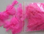 "0.35 oz Hot Pink  3-4"" Turkey Plumage Loose Feathers 80-120 Pieces"