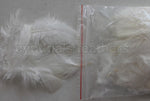 "0.35 oz Ivory  3-4"" Turkey Plumage Loose Feathers 80-120 Pieces"