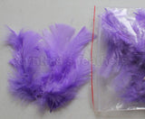 "0.35 oz Lavender 3-4"" Turkey Plumage Loose Feathers 80-120 Pieces"