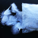 "0.35 oz Natural White  3-4"" Turkey Plumage Loose Feathers 80-120 Pieces"