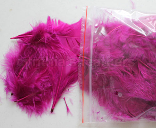 "0.35 oz Purple Plum 3-4"" Turkey Plumage Loose Feathers 80-120 Pieces"