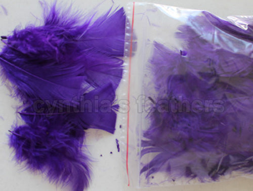"0.35 oz Purple  3-4"" Turkey Plumage Loose Feathers 80-120 Pieces"