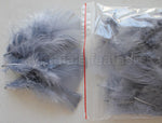 "0.35 oz Silver Grey  3-4"" Turkey Plumage Loose Feathers 80-120 Pieces"
