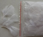 "0.35 oz White  3-4"" Turkey Plumage Loose Feathers 80-120 Pieces"