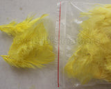 "0.35 oz Yellow  3-4"" Turkey Plumage Loose Feathers 80-120 Pieces"