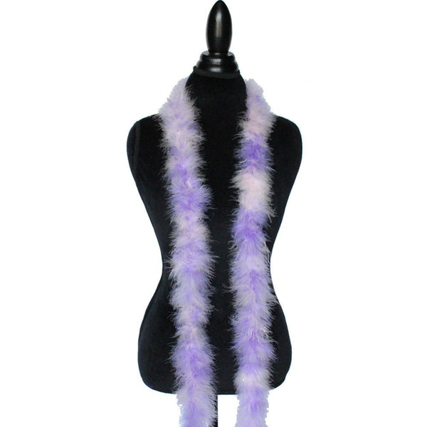 22 Grams Baby Pink/Lavender Mix Marabou Feather Boa